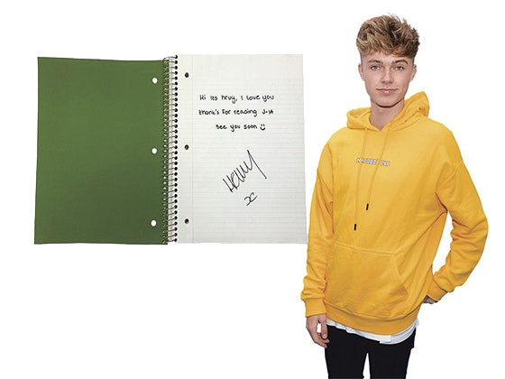 Win HRVY's Signed Notebook! sweepstakes