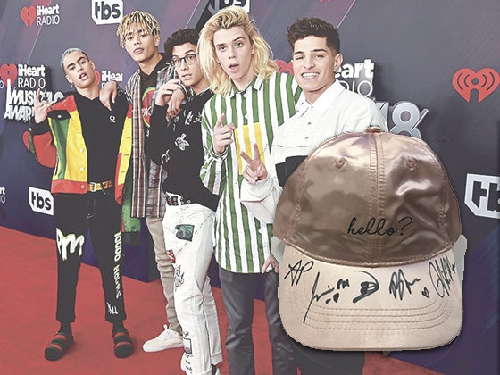 Prettymuch signed hat j14 giveaway