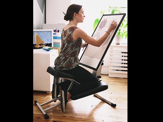 The Edge Desk System Ergonomic Adjustable Kneeling Desk sweepstakes