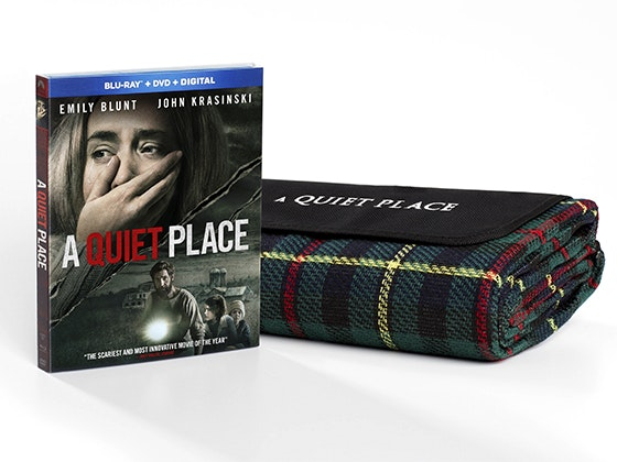 """A Quiet Place"" on Blu-ray Combo Pack & a Movie-Themed Blanket sweepstakes"