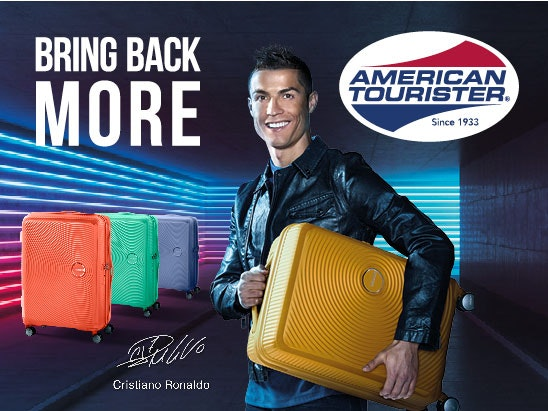 Win an American Tourister Soundbox Suitcase Signed by Cristiano Ronaldo sweepstakes