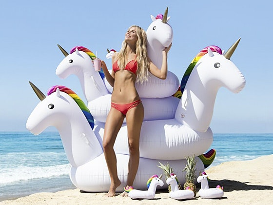 KOLOLO Big Unicorn Pool Float & Matching Mini Cupholders sweepstakes