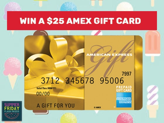 Summer Weekend Flash Prize: 7-19 Amex Gift Card sweepstakes