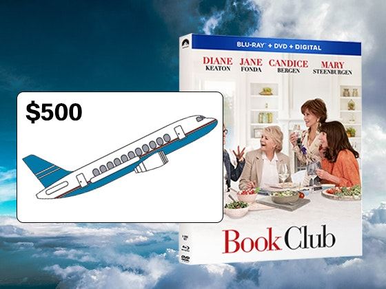 Book Club on Bluray Combo Pack + Airline Gift Card sweepstakes