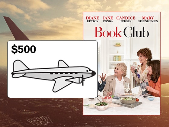 Book Club on Digitial HD + Airline Gift Card sweepstakes