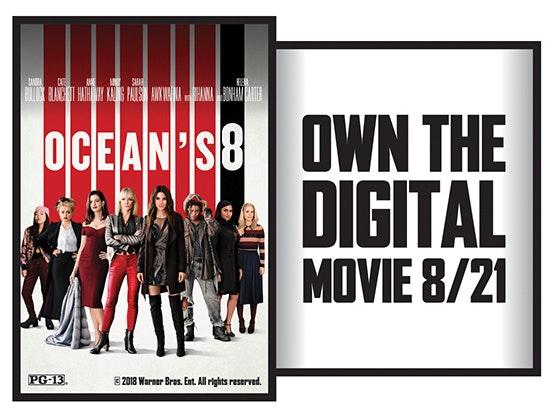 Oceans 8 on Digital HD sweepstakes