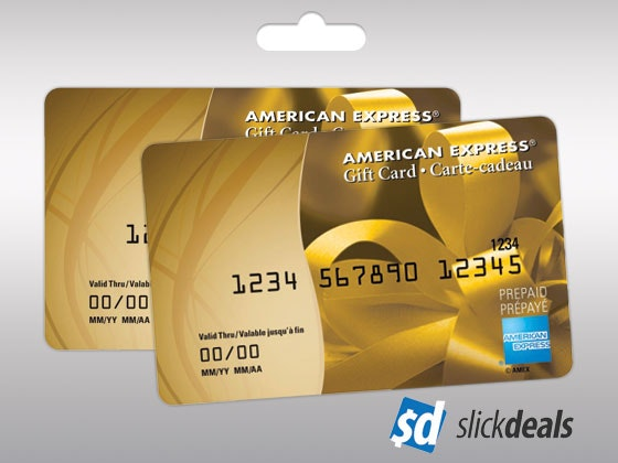 Slickdeals Amex Gift Cards Aug-Sept sweepstakes
