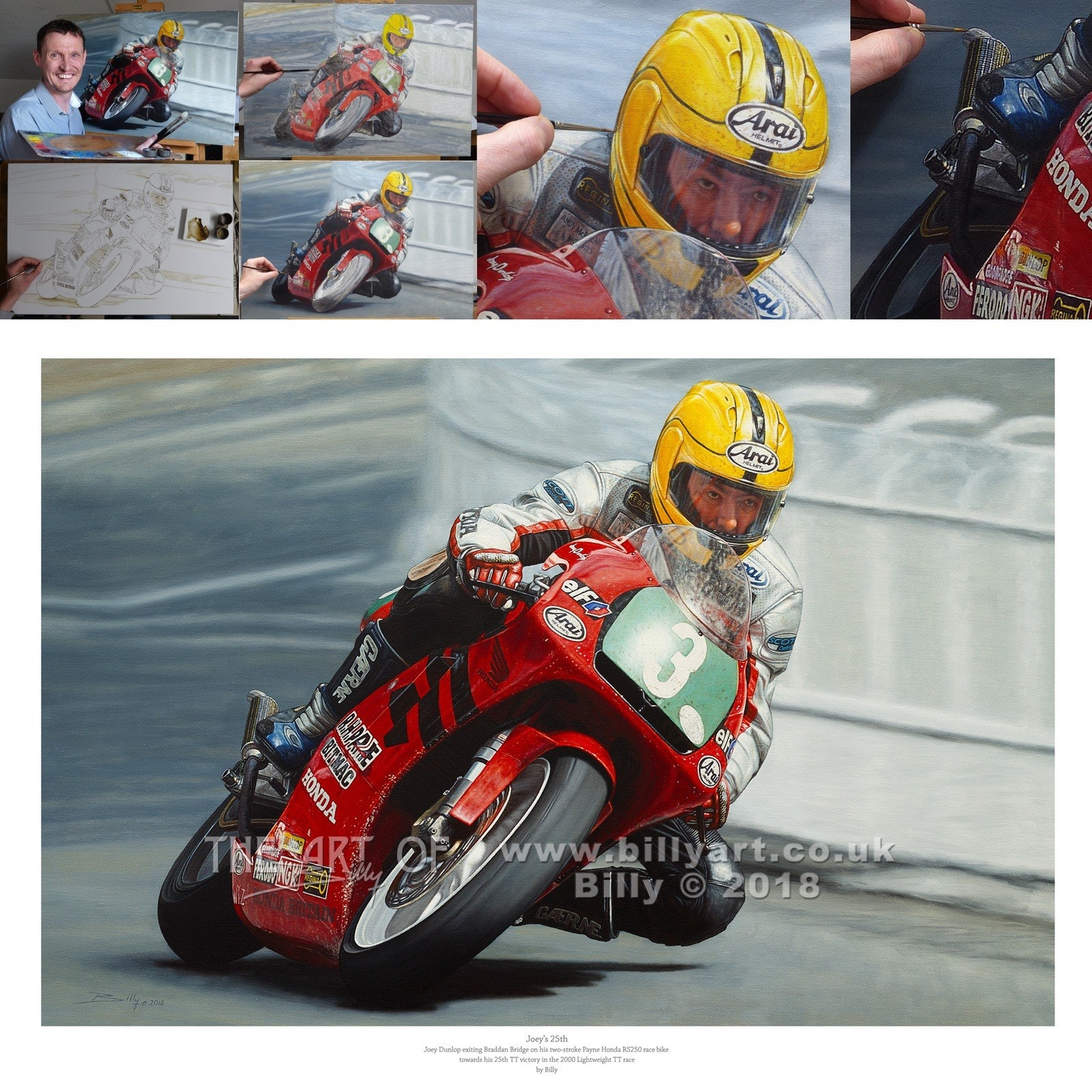 Joey dunlop   billy art