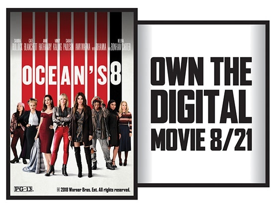 Oceans 8 on Digital HD sweepstakes