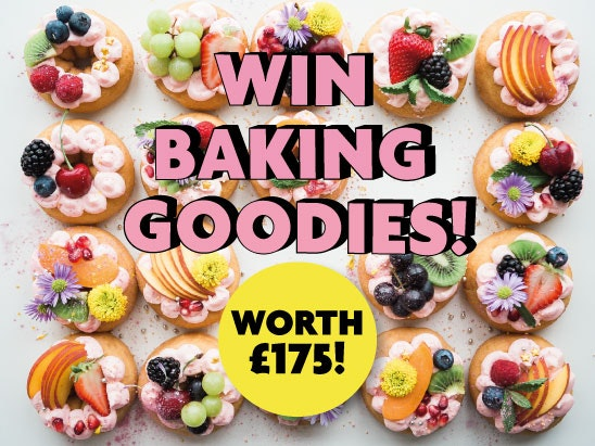 Win baking goodies, worth £175! sweepstakes