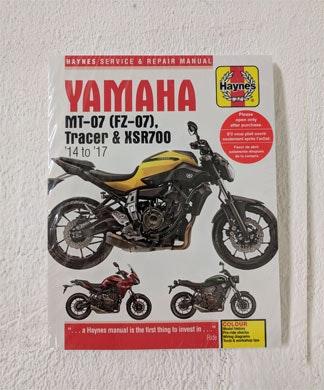 Haynes Manual Yamaha MT-07 sweepstakes