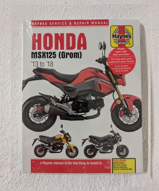 Haynes Manual - Honda MSX125 G sweepstakes