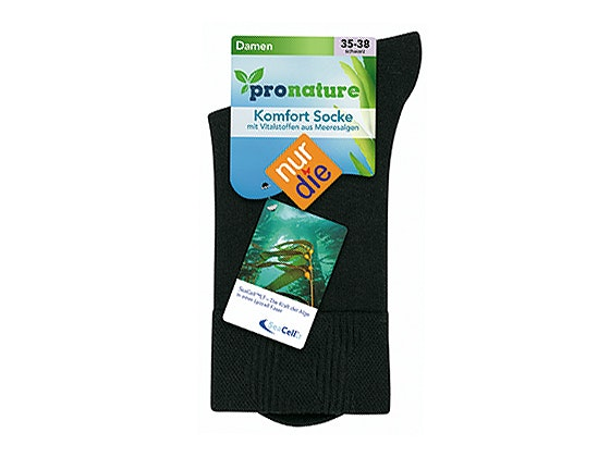 Nur die pronature komfort socke schwarz uvp 4 99 vp neu