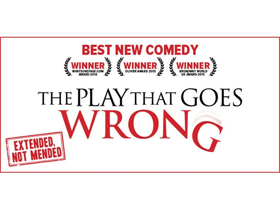 TICKETS TO THE PLAY THAT GOES WRONG! sweepstakes