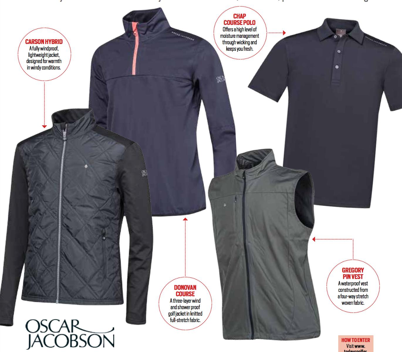 Win an Oscar Jacobson wardrobe sweepstakes