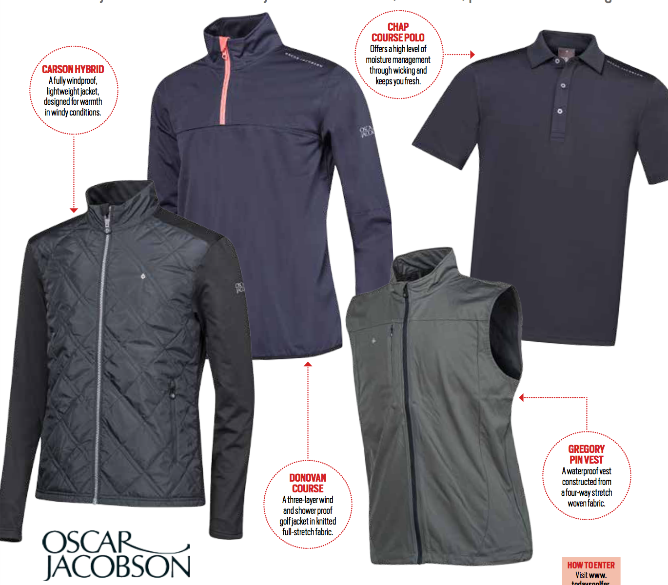 Win an Oscar Jacobson wardrobe sweepstakes