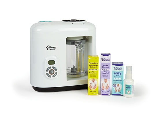 Tommee Tippee Baby Food Steamer Blender and Metanium Lotion sweepstakes