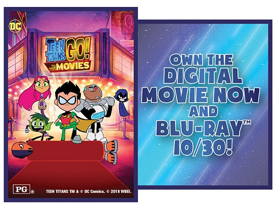 Teen Titans Go! To The Movies! sweepstakes