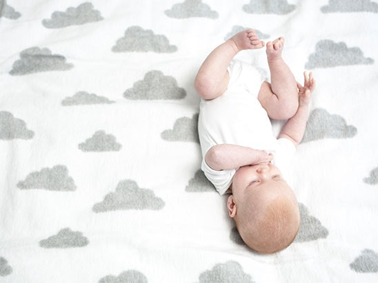Moba Black & White Cloud Brushed Cotton Blanket sweepstakes