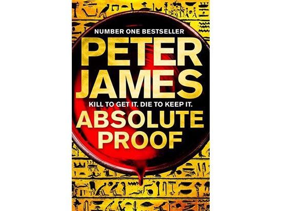 Signed copy of Absolute Proof by Peter James sweepstakes