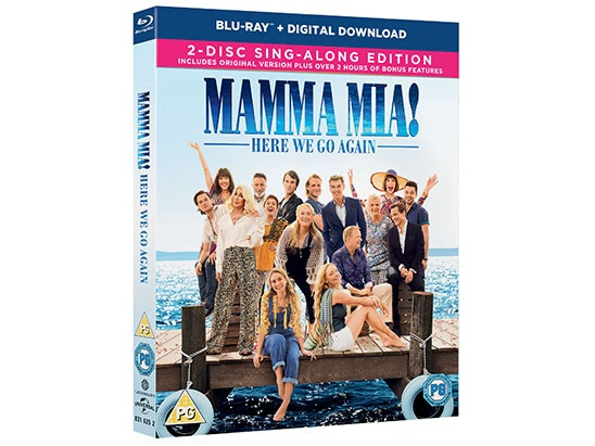Mamma Mia! Here We Go Again Blu-Ray & Signed Poster sweepstakes