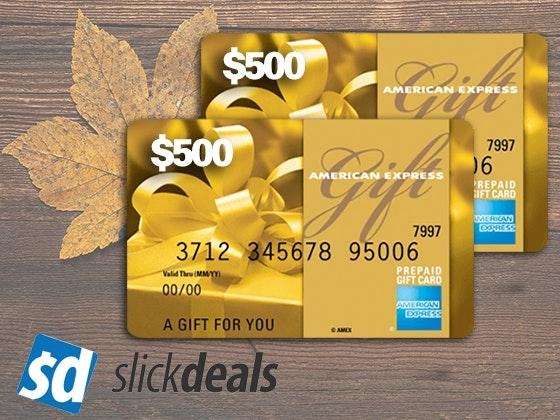 Slickdeals amex nov giveaway 1