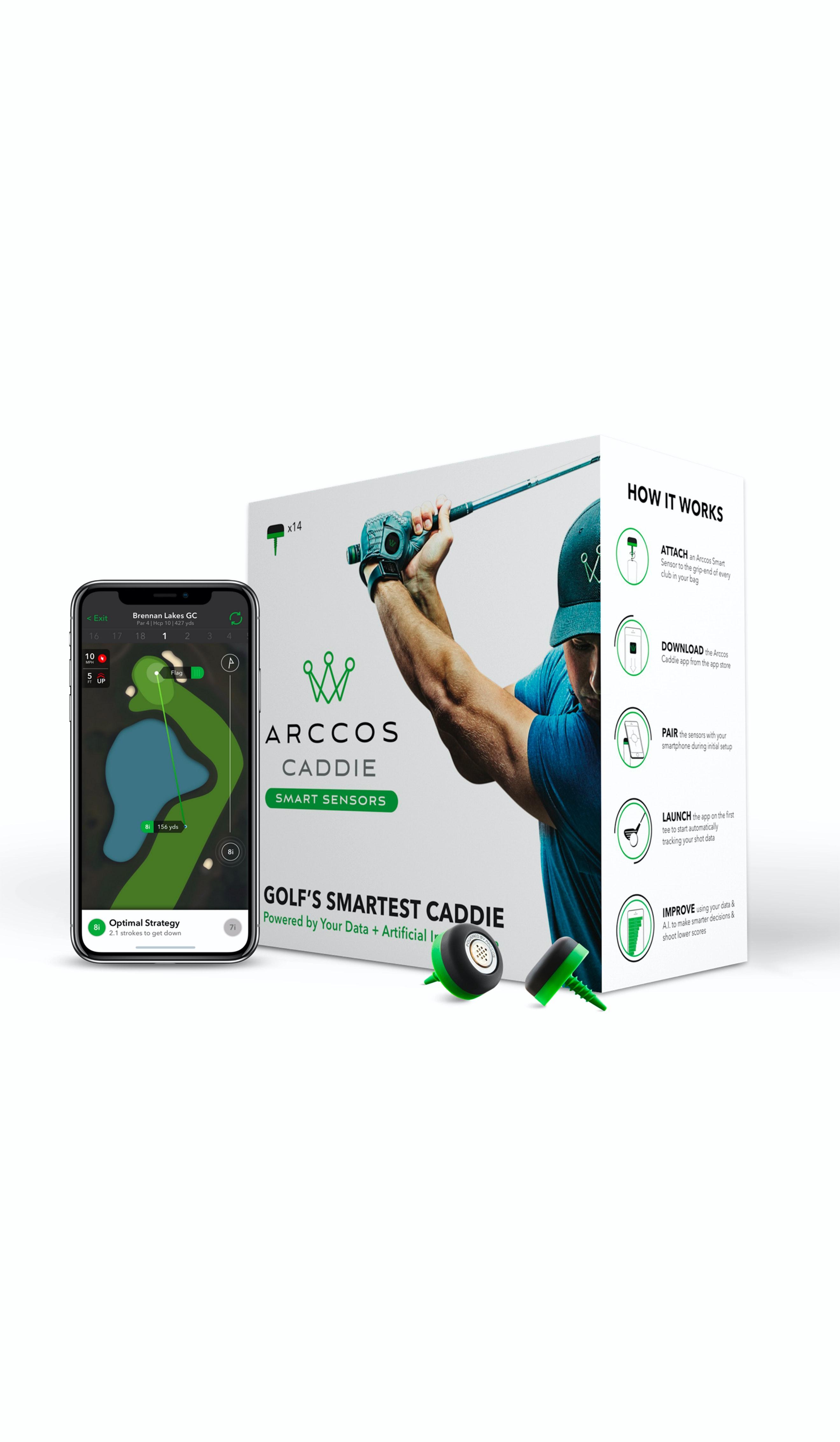 Caddie smart sensors