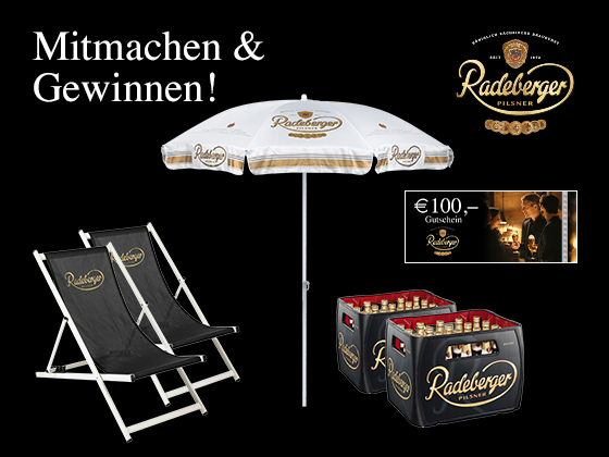 Exklusives Radeberger Geschenkset Gewinnspiel