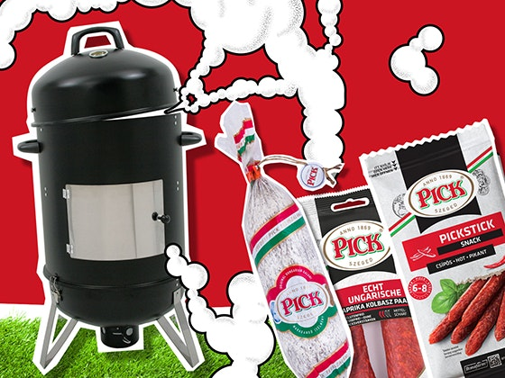 Grill-Smoker mit PICK gewinnen Gewinnspiel