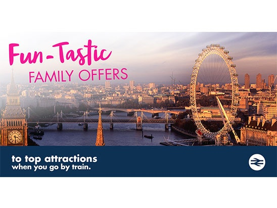 Merlin Attraction entry for 4, train tickets for 4 and a 1 year family and friends railcard sweepstakes