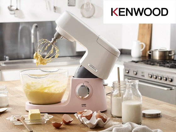 Lecker kenwood chefsensecolour drizzledpink teig