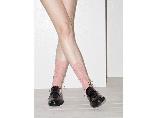 RAEY lurex ribbed socks at MATCHESFASHION.COM sweepstakes