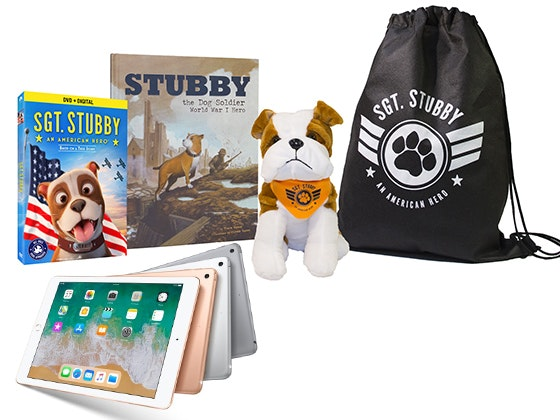 Sgt. Stubby: An American Hero Movie Prize Pack + iPad 32GB Wi-Fi  sweepstakes