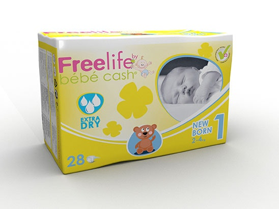 Bundle of Freelife Bébécash Nappies sweepstakes