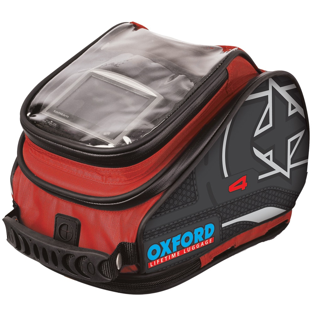 Oxford X4 QR tank bag - red sweepstakes