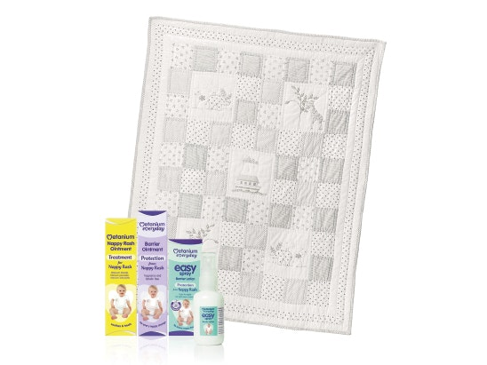 White Company Noah's Ark Cot Quilt with Metanium sweepstakes