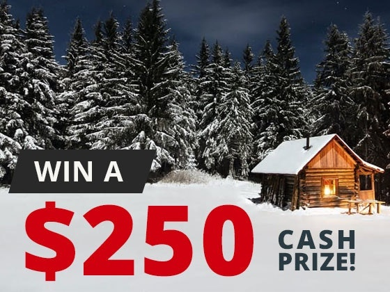 250 Cash Prize February sweepstakes