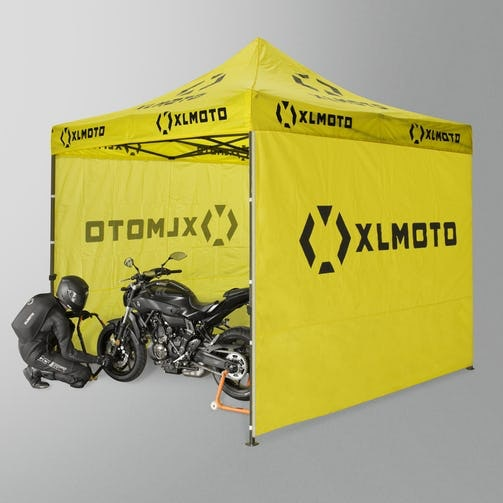 XLmoto Tent, XLmoto Bike Cover, a personalised signed cap from Lee Johnston sweepstakes