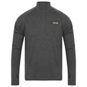 Mens merino zip top graphite front compact