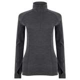 EDZ Zip Neck Top - Graphite Grey only sweepstakes