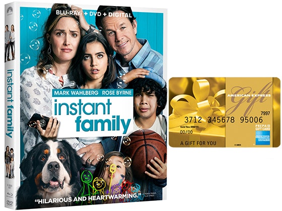 Instant Family on DVD + AMEX Gift Card sweepstakes
