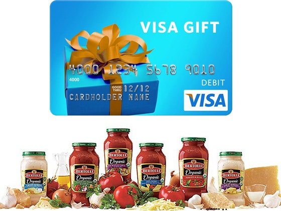 Bertolli Pasta Sauce Prize Package sweepstakes