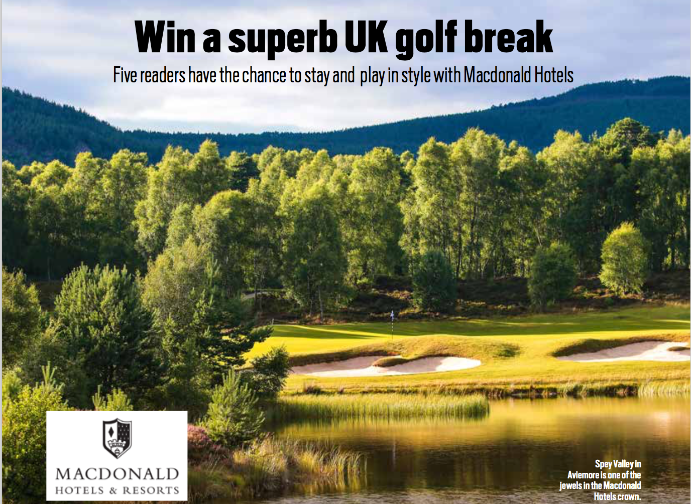 Win a superb UK golf break sweepstakes