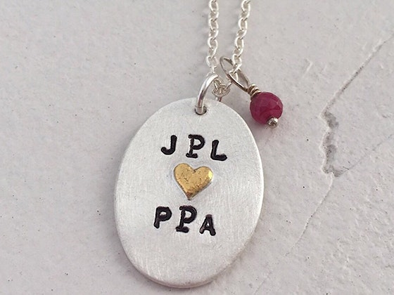 Isabelle Grace Love Monogram Necklace sweepstakes