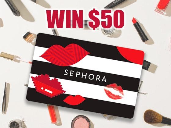 $50 - Sephora Gift Card Spring 2019 sweepstakes