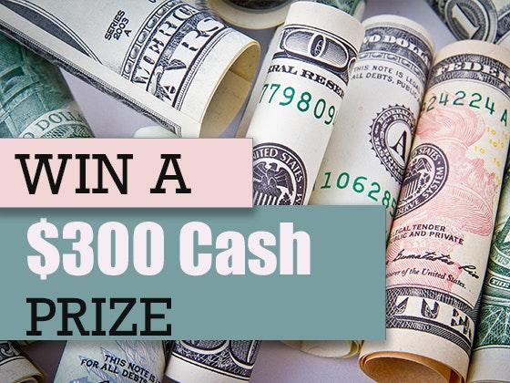 300 cash