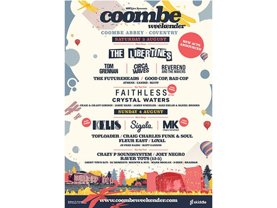 4 tickets to Coombe Weekender  sweepstakes