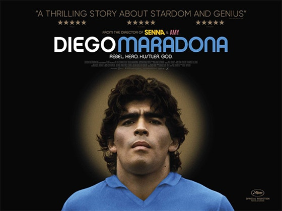 A POSTER SIGNED BY DIRECTOR ASIF KAPADIA WITH DIEGO MARADONA sweepstakes