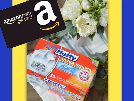 Hefty + $150 Amazon Gift Card sweepstakes