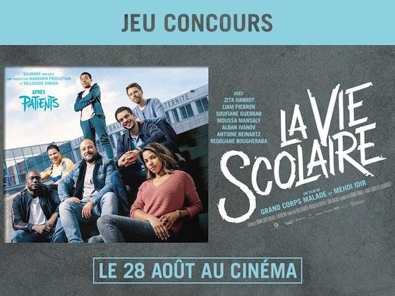 jeu concours 20 lots de 2 places pour Film La vie Scolaire